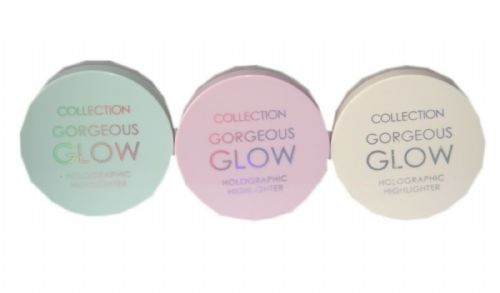 3 x Collection Gorgeous Glow Holographic Highlighter | Moon Dust, Aurora, Pixie